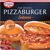 Pizzaburger salami