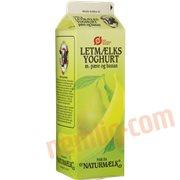 Letmælksyoghurt - Yoghurt m. pære og banan øko.