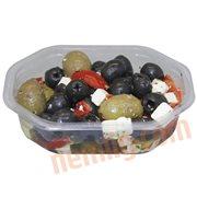 Oliven & Soltørrede Tomater - Olivensalat m. feta