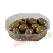 Oliven & Soltørrede Tomater - Grønne oliven m. paprika