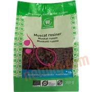 Tørret frugt - Muscat rosiner øko.