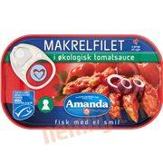 Fiskekonserves - Makrelfilet i tomatsauce øko.