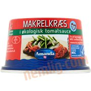 Fiskekonserves - Makrelkræs tomatsauce øko.