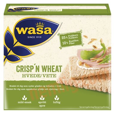 Knækbrød crisp'n wheat - Knækbrød
