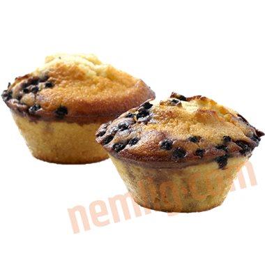 Blåbærmuffins - Friskbagte Kager