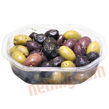 Blandede oliven mix - Oliven & Soltørrede Tomater