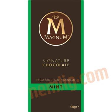 Mørk chokolade m. mint - Chokoladeplader