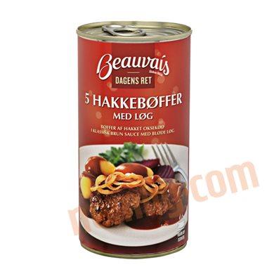Hakkebøf i brun sauce - Færdigretter, konserves