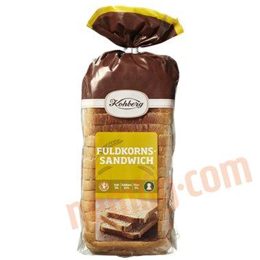 Fuldkornssandwich - Toastbrød