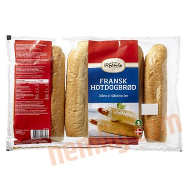 Fransk hotdogbrød - Pølsebrød