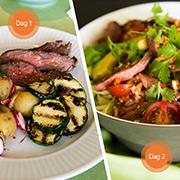 Flanksteak el. culotte og Thai beef salad