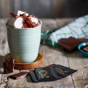 Varm chokolade med et twist af pebermynte
